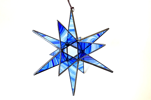 Moravian Star, Blue and Clear Waves