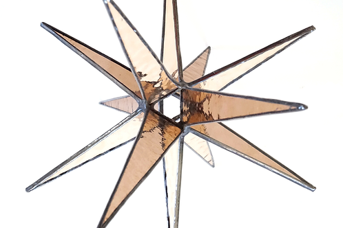 Stained Glass Star, Earthtones