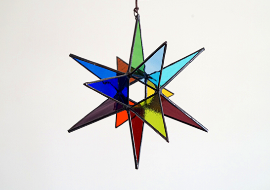 Rainbow Moravian Star