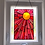 Thumbnail: Stained Glass Sun, Orange and Pink