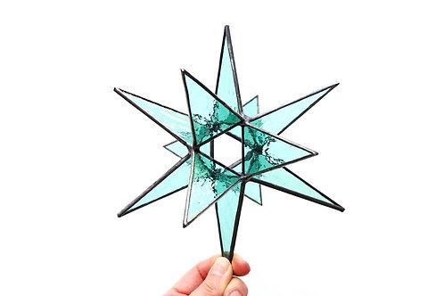 Moravian Star, Sea Green