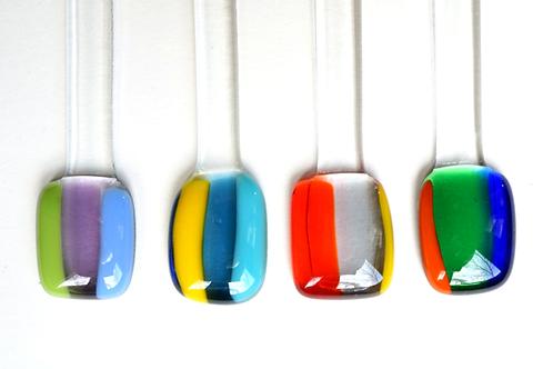 Swizzle Sticks, Colorful Stripes