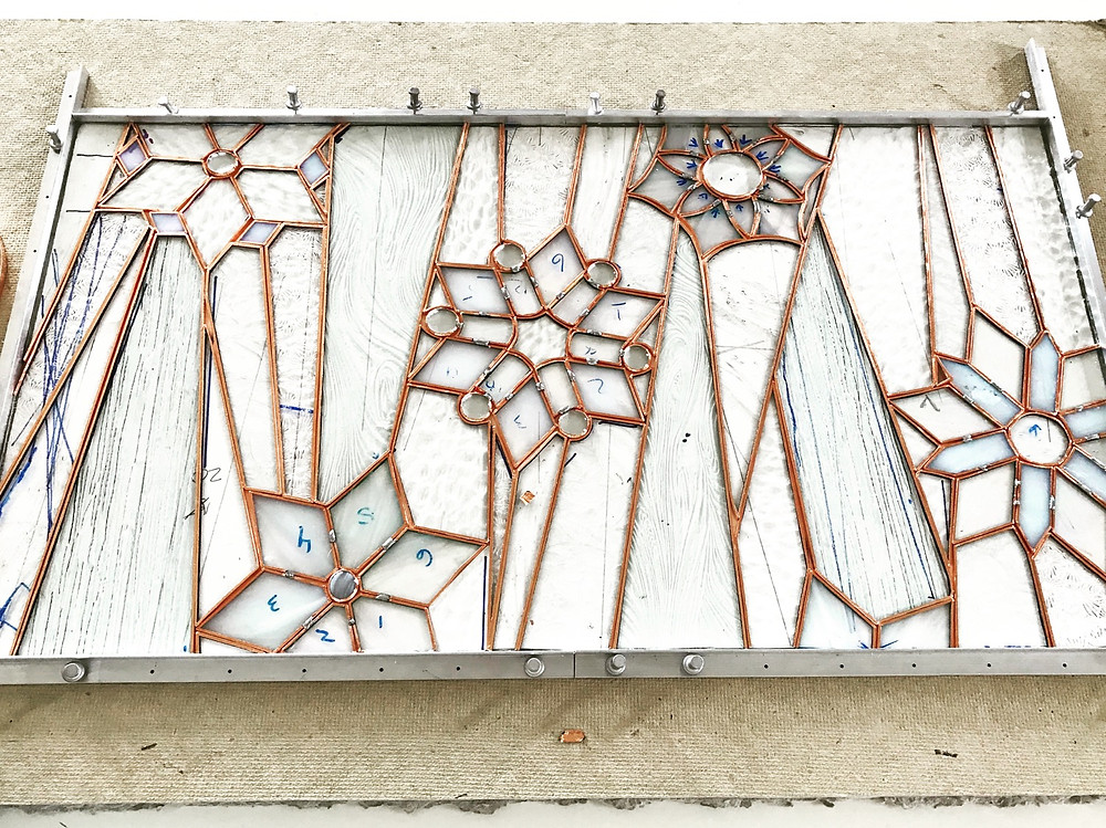 Work in progress by Laura Koss of Garden State Glasswork