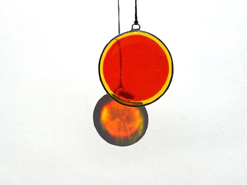 Orange and Yellow Circle Suncatcher, Large