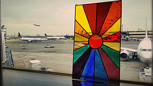 Finished piece at Newark Liberty International Airport.