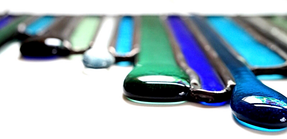 Fused glass art, by Laura Koss of Garden State Glasswork