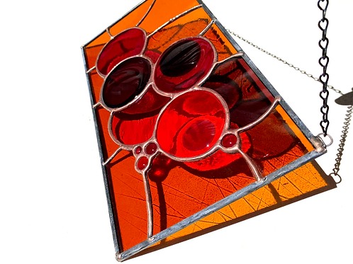 Autumn Colors Fused Glass and Stained Glass Panel