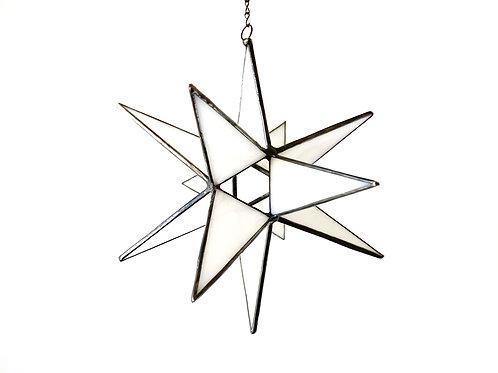 Moravian Star, Iridescent White