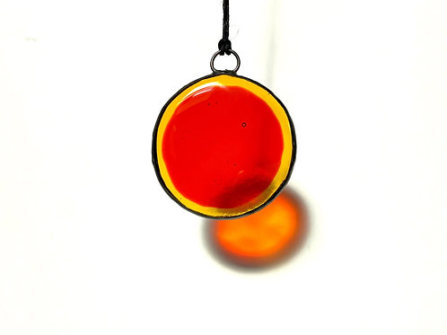 Yellow and Orange Circle Suncatcher, Small