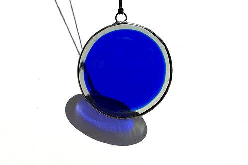 Blue and Gray Circle Suncatcher, Large