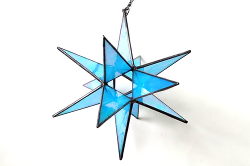Moravian Star, Blue Iridescent