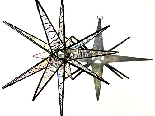 Moravian Star, Large Textured Iridescent