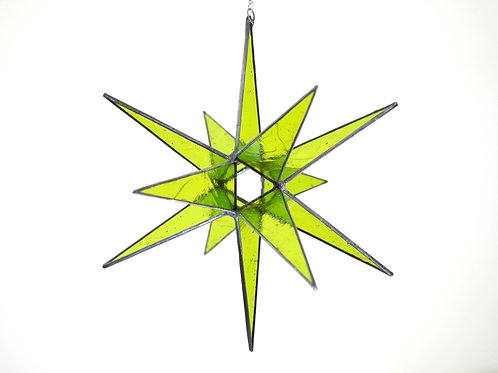 Moravian Star, Lime Green