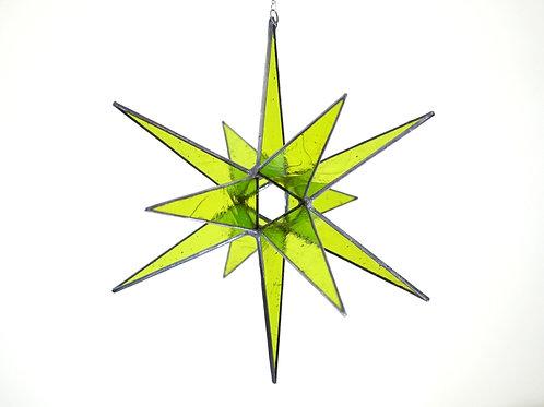 Moravian Star, Lime Green