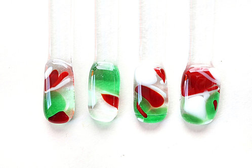 Swizzle Sticks, Red White and Green
