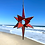 Thumbnail: 3 Dimensional Star, Red