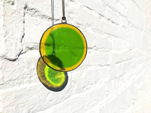 Yellow and Green Circle Suncatcher, Large