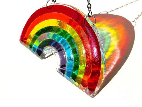 Fused Glass Rainbow Suncatcher