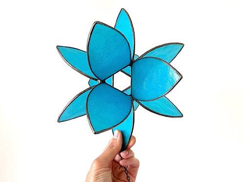 Flower Burst, Blue Translucent