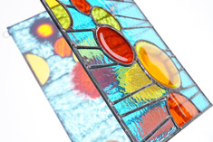 Stained Glass Circles Panel