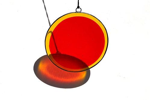 Orange and Yellow Circle Suncatcher, X-Large