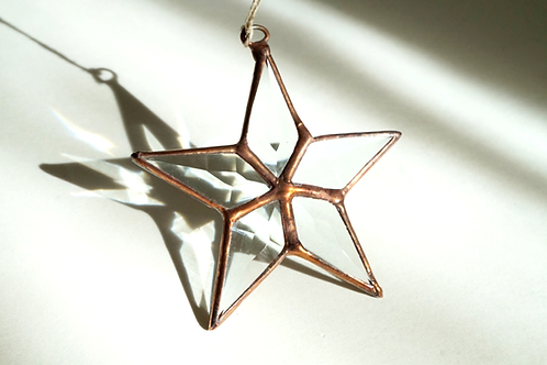 Beveled Star with Copper Solder