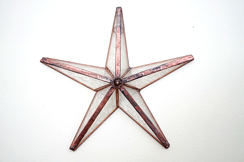 Barn Star, Copper and Textured Clear