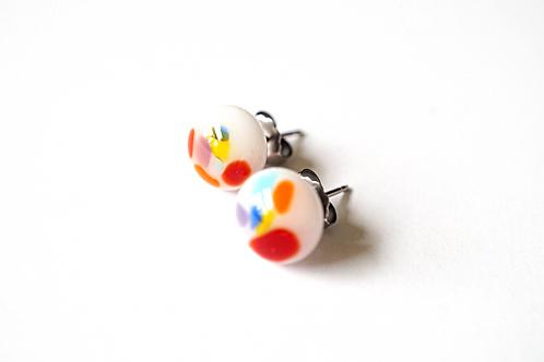 Multicolored Glass Earrings