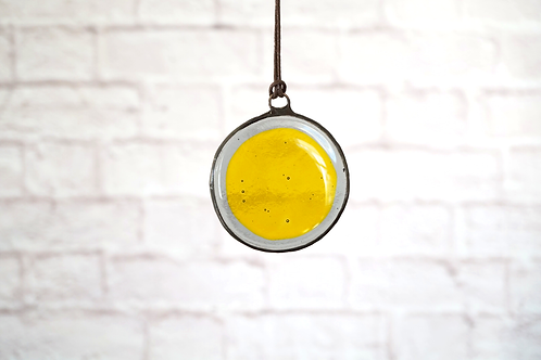 Yellow and Grey Circle Suncatcher, Small