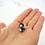 Thumbnail: Grey and White Polka Dot Studs