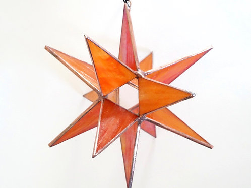 Moravian Star, Iridescent Orange