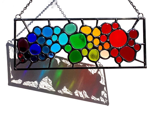 Stained Glass Rainbow Panel