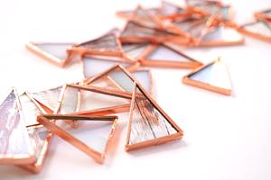 Moravian Star glass work in progress by Laura Koss