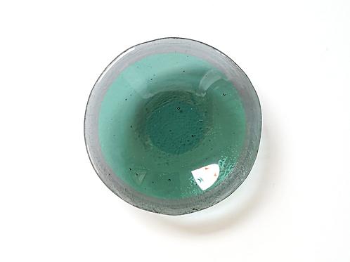 Trinket Dish, Gray and Sea Green