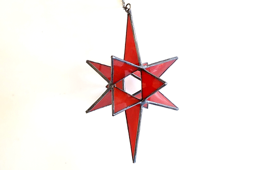 3 Dimensional Star, Red