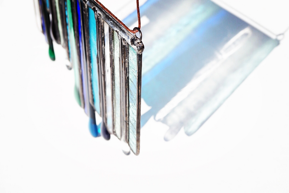 Fused glass and stained glass refraction, by Laura Koss of Garden State Glasswork