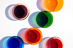 Fused glass dishes by Laura Koss of Garden State Glasswork