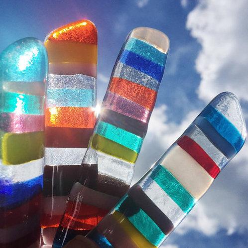 Fused Glass Suncatcher, Stripes