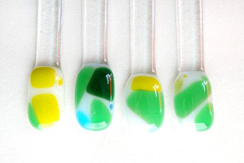 Swizzle Sticks, Green Yellow and White