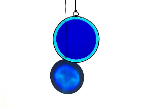 Blue and Aqua Circle Suncatcher, Large