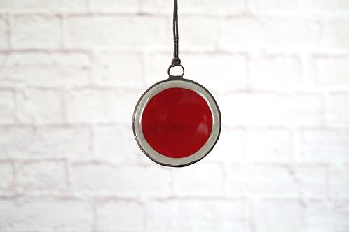 Grey and Red Circle, Small