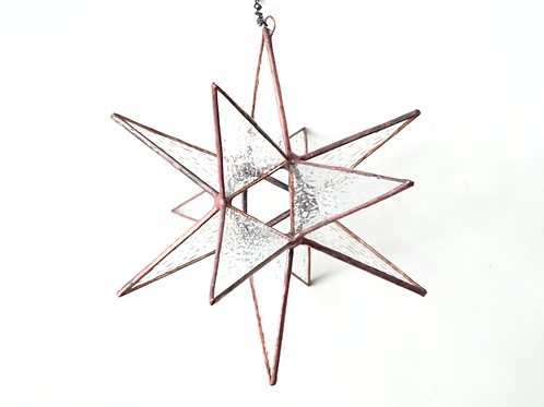 Moravian Star, Textured Clear