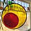 Thumbnail: Red and Yellow Circle Suncatcher