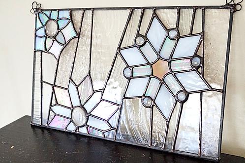 Iridescent Snowflake Panel