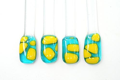 Swizzle Sticks, Aqua and Yellow