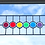 Thumbnail: Stained Glass Panel, Rainbow Circles
