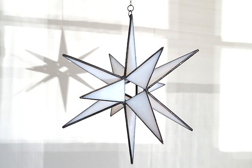 Moravian Star, Iridescent White