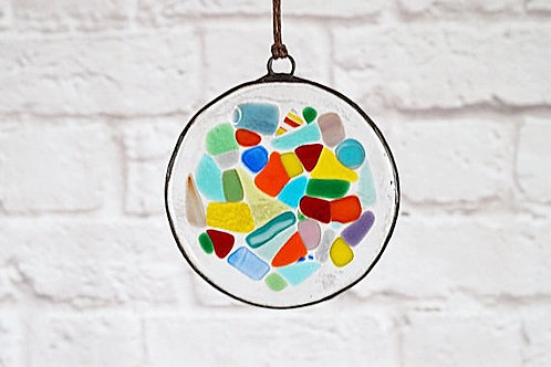 Multicolored Circle Suncatcher, Large