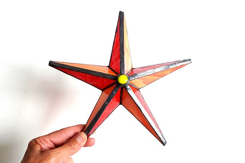 Barn Star, Orange and Red