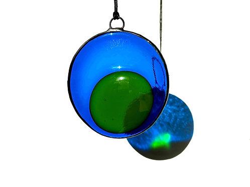 Blue and Green Circle Suncatcher